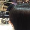 酸性ストレートで前髪も柔らかい質感作ります。