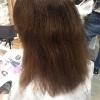 ブリーチしている髪に縮毛矯正するとこうなる。